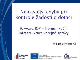 Ing. Jana Břicháčková