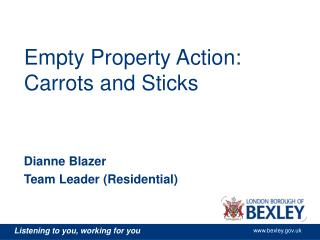 Empty Property Action: Carrots and Sticks