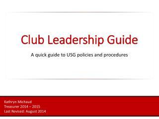 Club Leadership Guide
