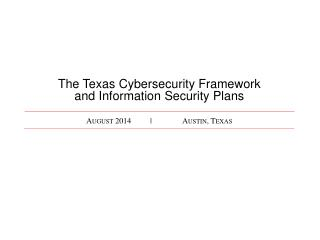 August 2014| Austin, Texas