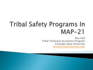 Tribal Safety Programs In MAP-21
