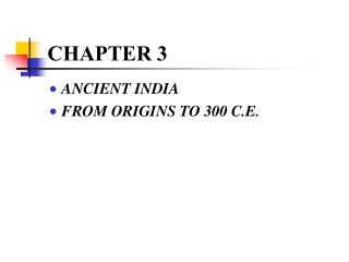 Early Civilizations of India: The Vedic Age