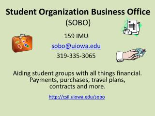 Student Organization Business Office (SOBO)