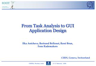 From Task Analysis to GUI Application Design