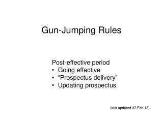 Gun-Jumping Rules
