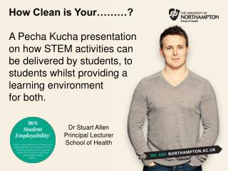 Dr Stuart Allen Principal Lecturer School of Health