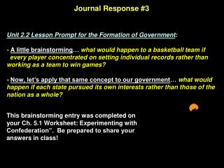 Journal Response #3