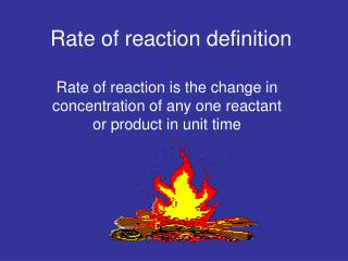 Rate of reaction definition