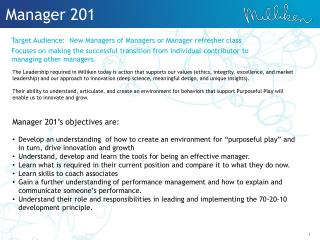 Manager 201
