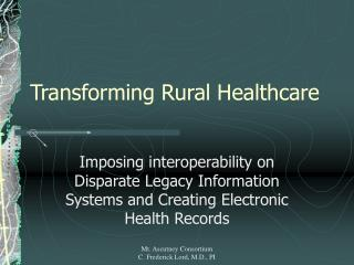 Transforming Rural Healthcare