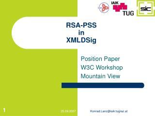 RSA-PSS in XMLDSig