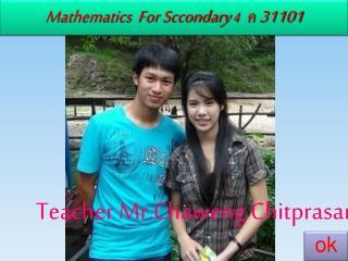 Mathematics For Sccondary 4 ค 31101