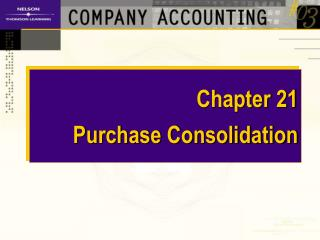 Chapter 21 Purchase Consolidation