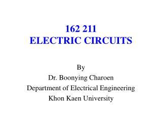 162 211 ELECTRIC CIRCUITS