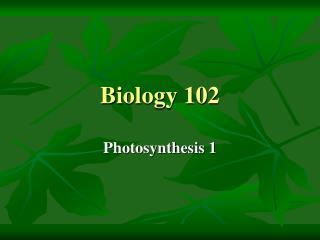 Biology 102