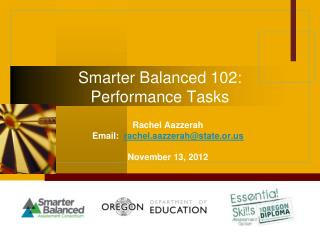 Smarter Balanced 102: Performance Tasks