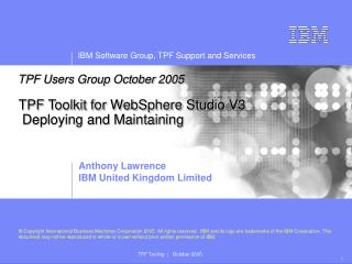 TPF Toolkit for WebSphere Studio V3 Deploying and Maintaining