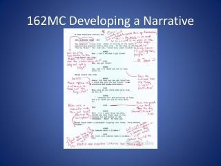 162MC Developing a Narrative