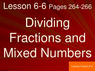 Lesson 6-6  Pages 264-266