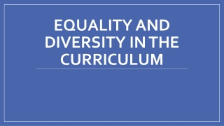 Promoting Awareness of Cultural Diversity in the Classroom