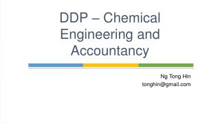DDP – Chemical Engineering and Accountancy