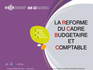 CG1.1 nouveau plan comptable les principales évolutions