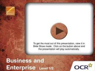 OCR Cambridge National in Business and Enterprise (Level 1/2)