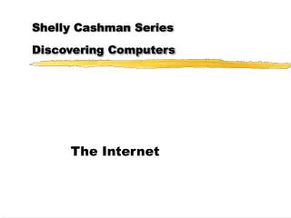 Shelly Cashman Series Discovering Computers