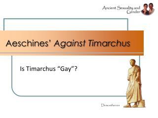 Aeschines' Against Timarchus