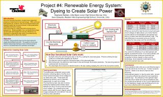 Project #4: Renewable Energy System: Dyeing to Create Solar Power