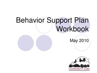 Behavior Support Plan Workbook
