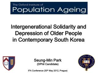 Intergenerational Solidarity and Depression of Older People in Contemporary South Korea