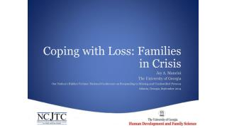 Coping with Loss: Families in Crisis