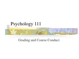 Psychology 111