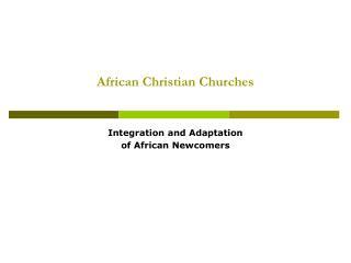 African Christian Churches