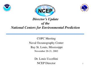 Director's Update of the National Centers for Environmental Prediction