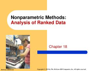 Nonparametric Methods: Analysis of Ranked Data