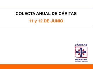 COLECTA ANUAL DE CÁRITAS 11 y 12 DE JUNIO