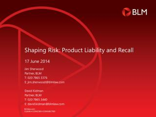 Shaping Risk: Product Liability and Recall