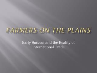 Farmers on the Plains