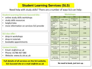 Student Learning Services (SLS)