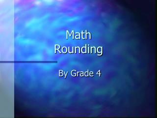 Math Rounding