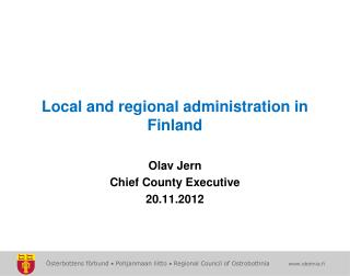 Local and regional administration in Finland