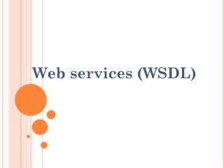 Web services (WSDL)