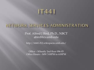 IT441 Network Services Administration