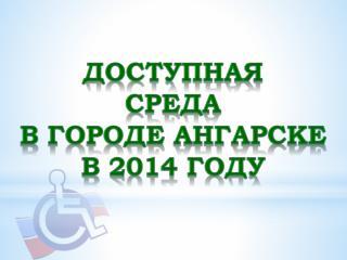 Доступная Среда в городе Ангарске в 2014 году