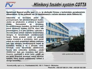Kovové profily, spol. s r.o., Podnikatelská 545, 190 11 Praha 9 – Běchovice
