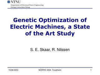 Genetic Optimization of Electric Machines, a State of the Art Study