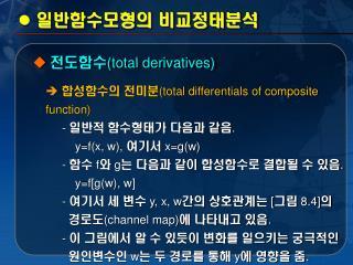 일반함수모형의 비교정태분석