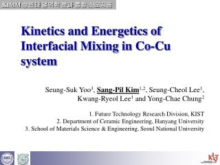 Kinetics and Energetics of Interfacial Mixing in Co-Cu system